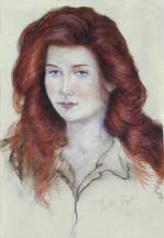 Red Head II (Lynn Stadum) by Merrilyn Duzy