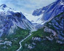 Retreating Glacier by Merrilyn Duzy