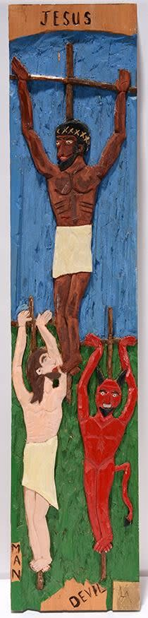 Jesus, Man and The Devil On The Cross by Leroy Almon