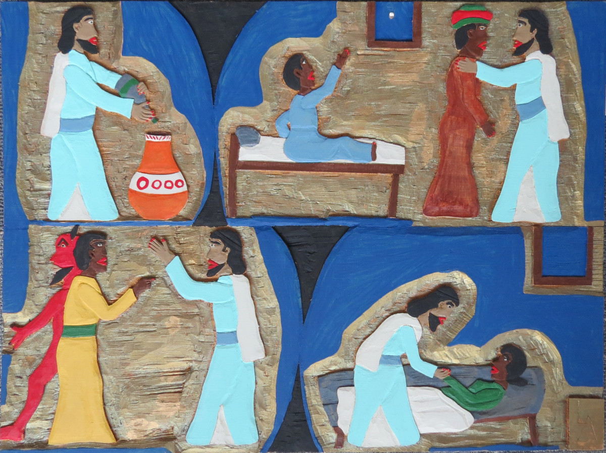 Untitled (Miracles of Jesus) by Leroy Almon