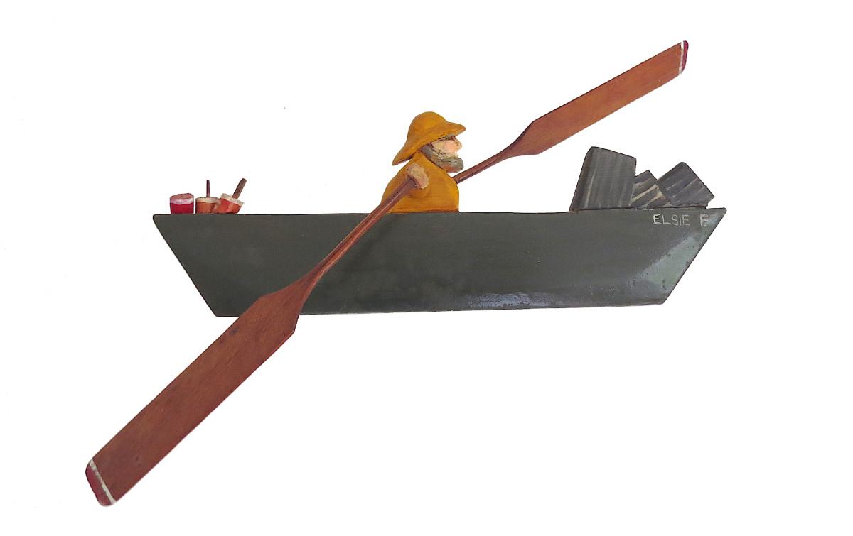 Fisherman in Boat Pinwheel by Anonymous American