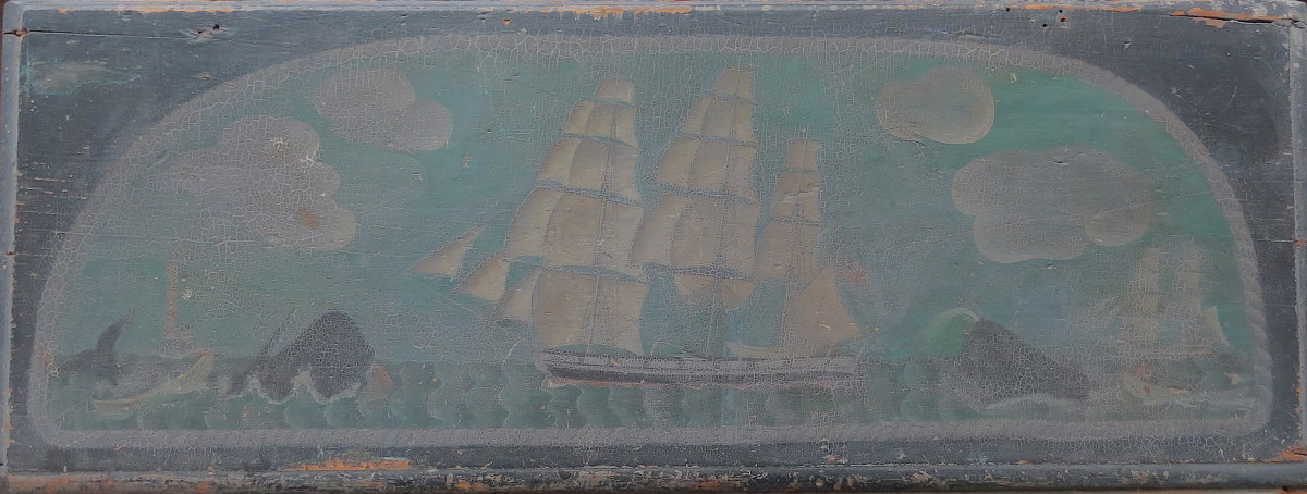 Clipper Ship (Chest/Trunk) by Anonymous American