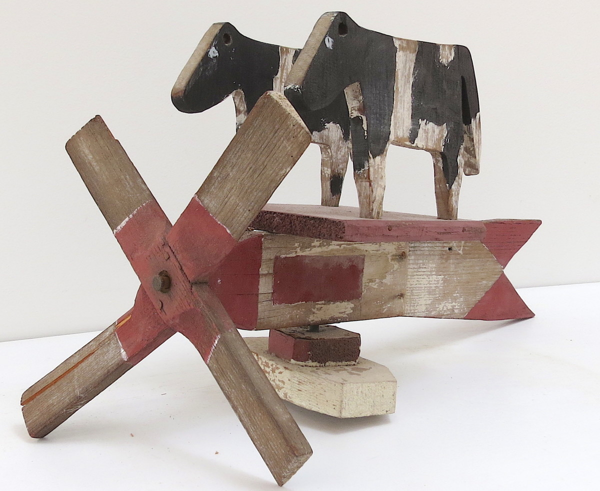 Two Cow Pinwheel by Anonymous American