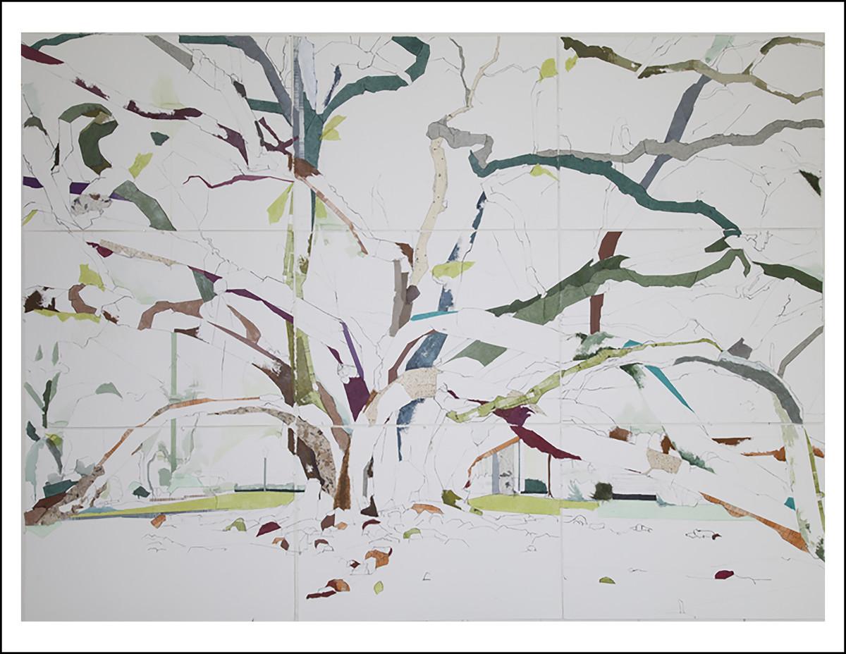 """30° 22' 01.50"""" N 90° 05' 57"""" W Seven Sisters I 9-Panel  by Jill Lear"""
