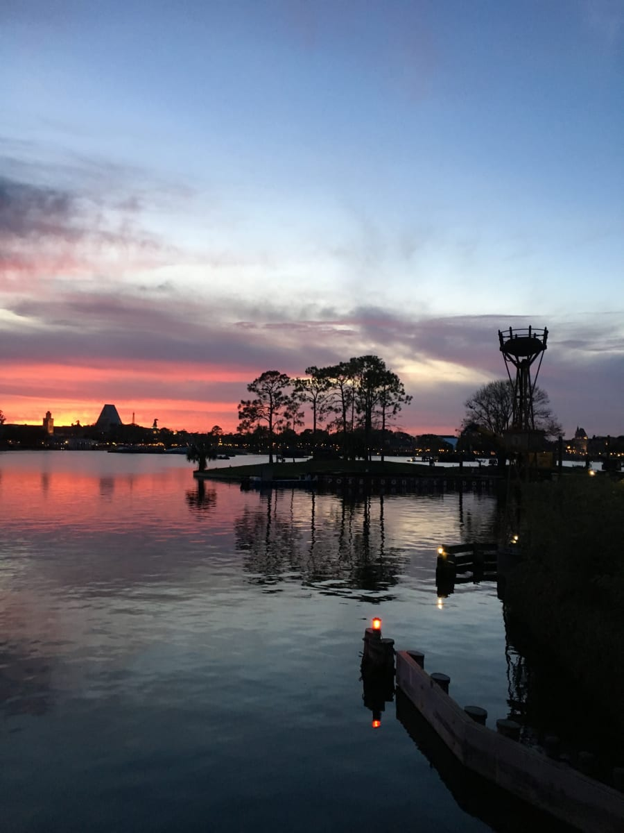 Epcot Sunset #3 by Kathie Collinson