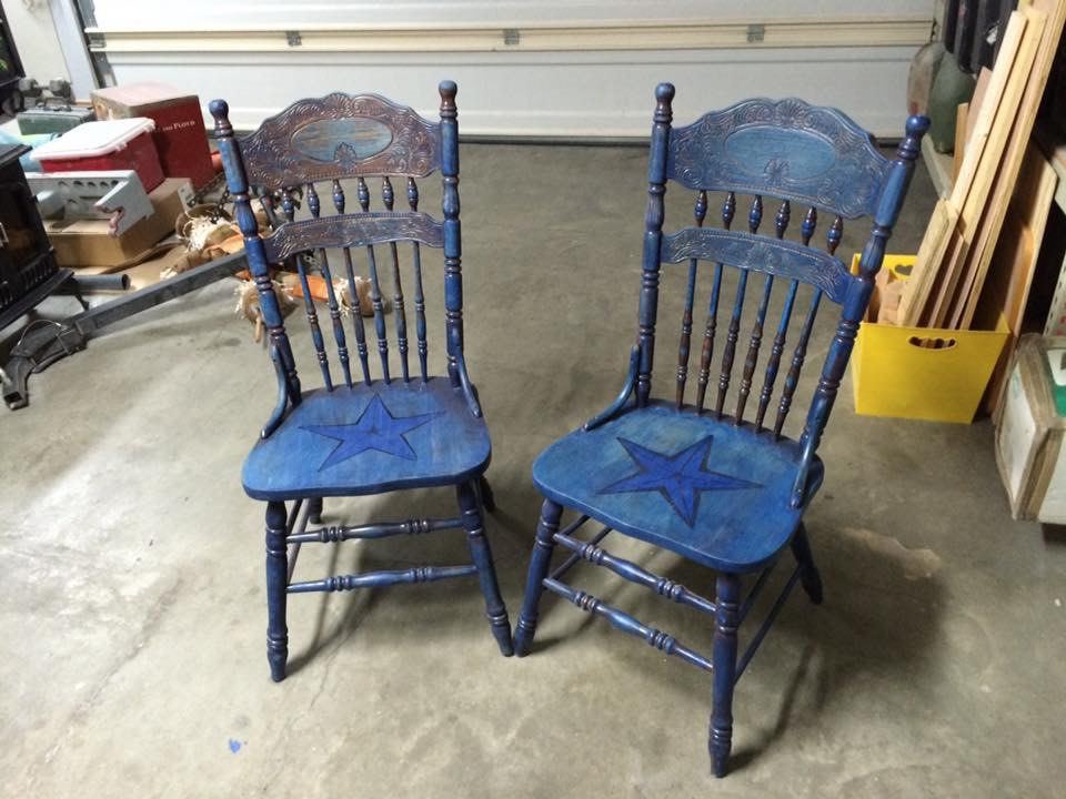 Texas chair pair by Heather Medrano