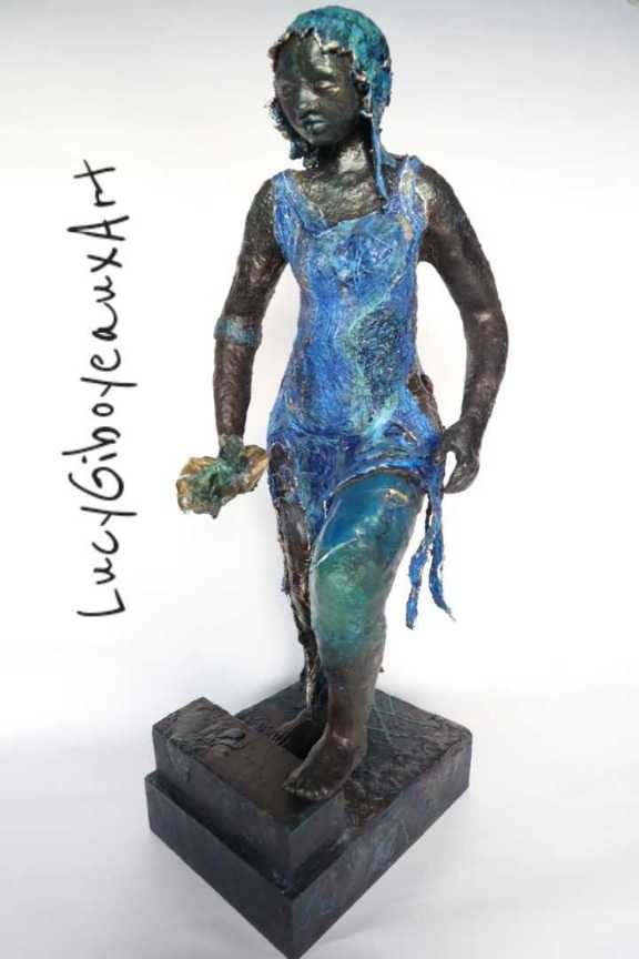 """Warishe, Manicato by Lucy Giboyeaux   Image: Mixed Media Sculpture Organic Materials 18""""inches tall"""