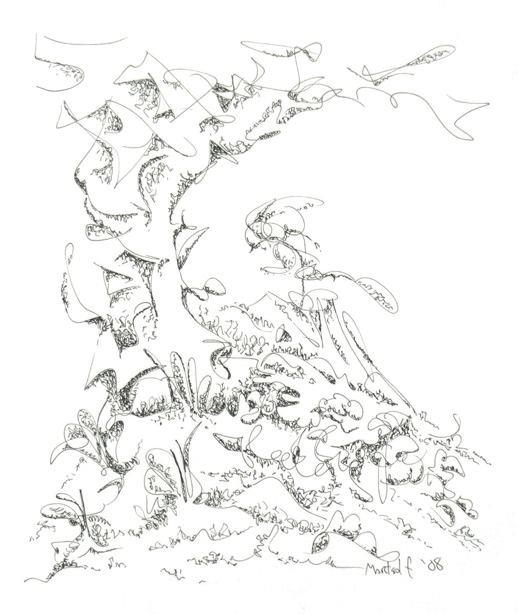 Mountainside, the drawing
