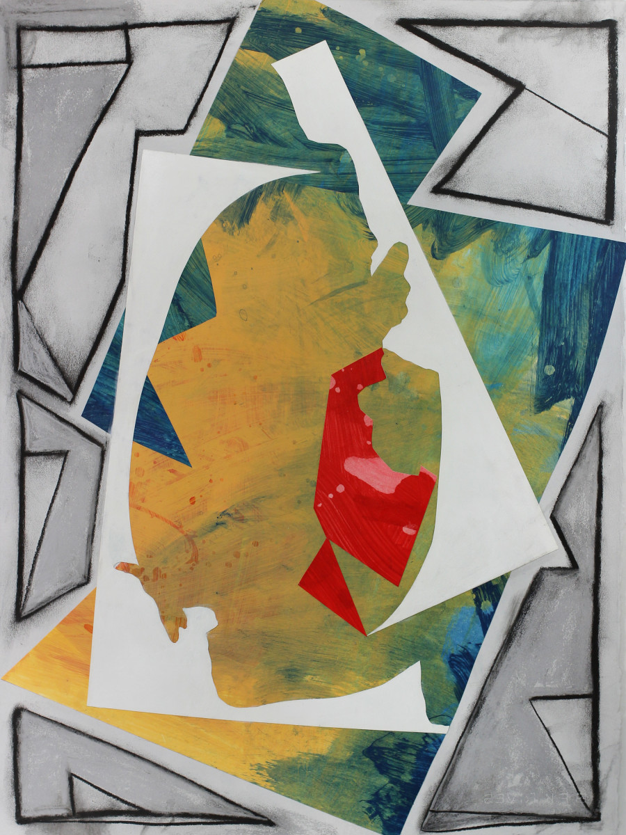 Abstract Study (cutouts and angles) by Pamela Staker
