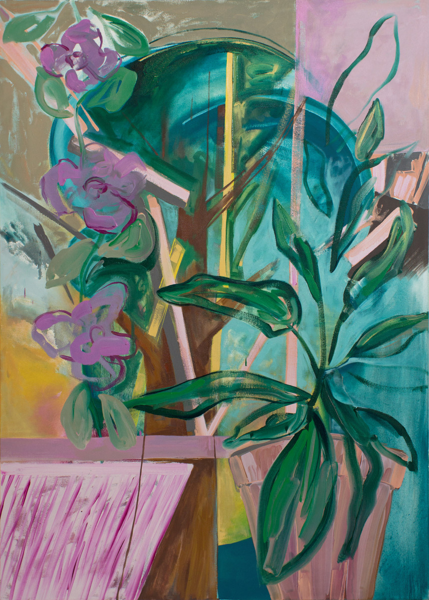 Abstract Study (potted plant) by Pamela Staker