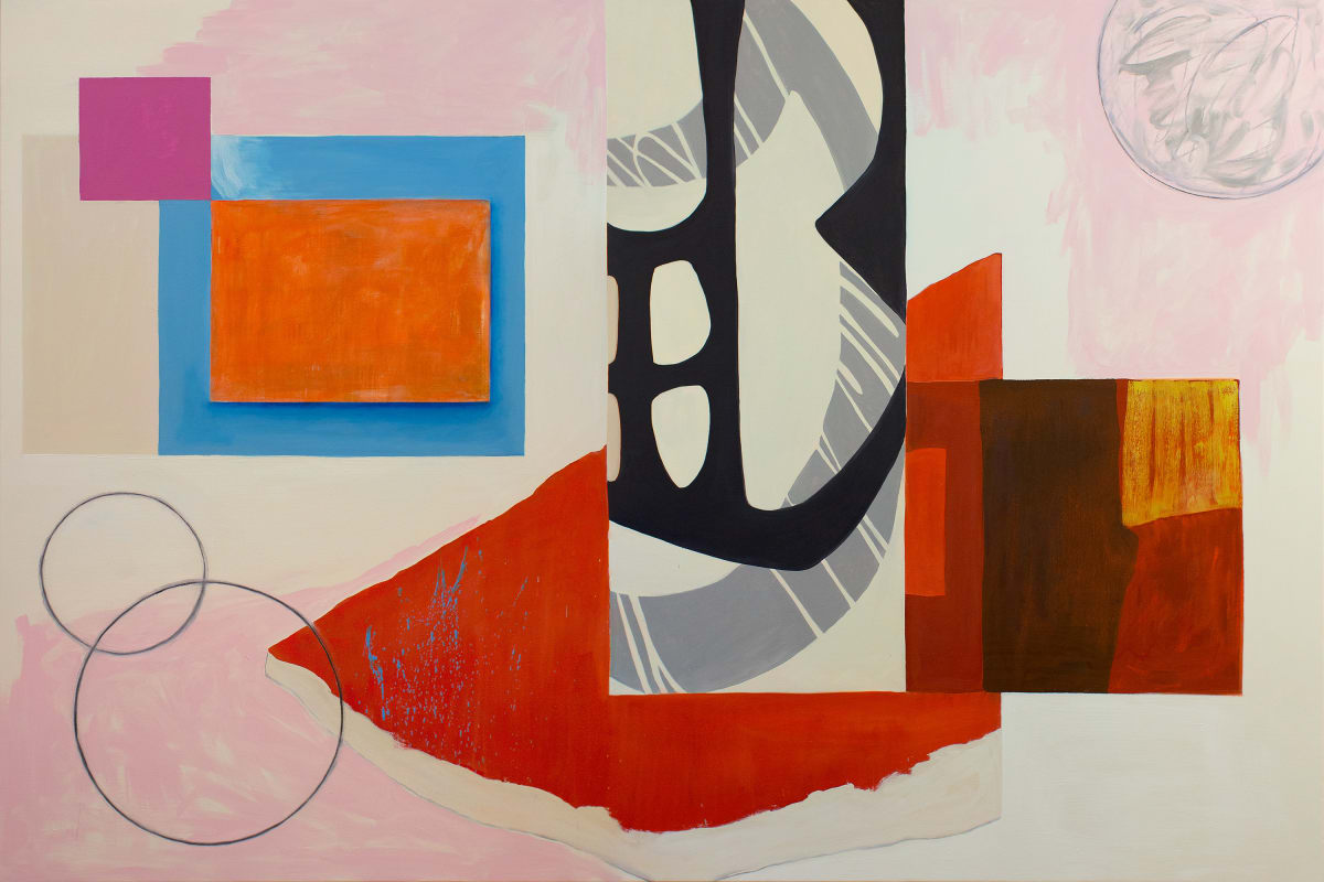 Abstract Interior (orange rectangle) by Pamela Staker