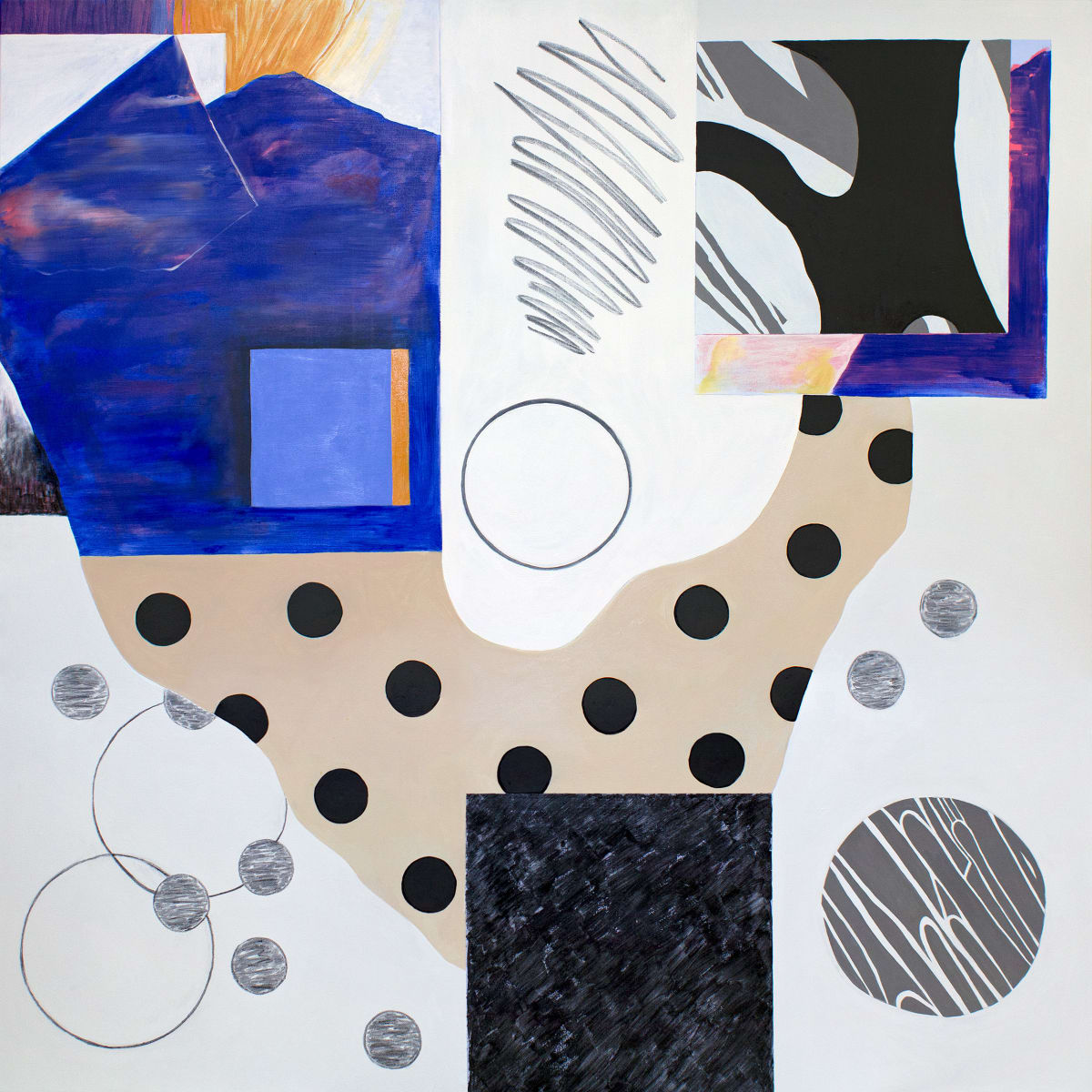 Abstract Interior (blue) by Pamela Staker