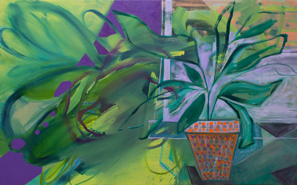 Abstract Study (potted plant no.2) by Pamela Staker