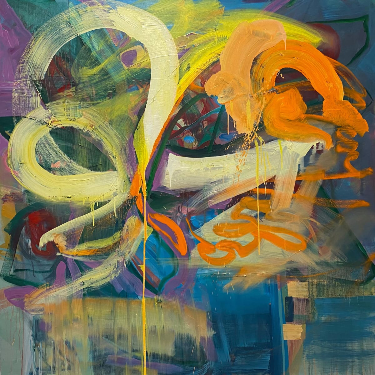 Abstract Study (graffiti) by Pamela Staker