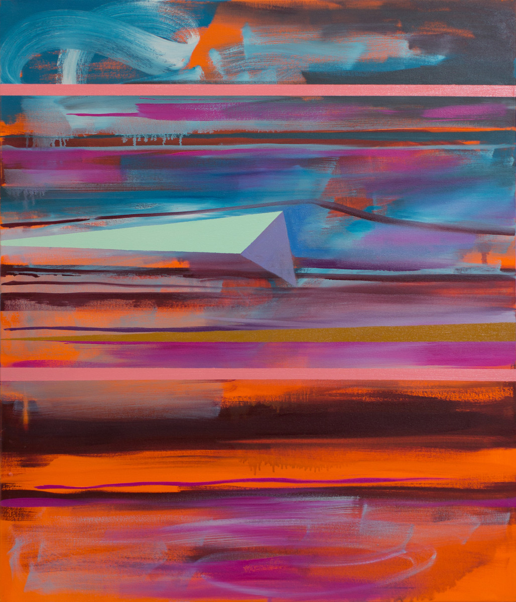 Abstract  Study (stacked horizons no.5) by Pamela Staker