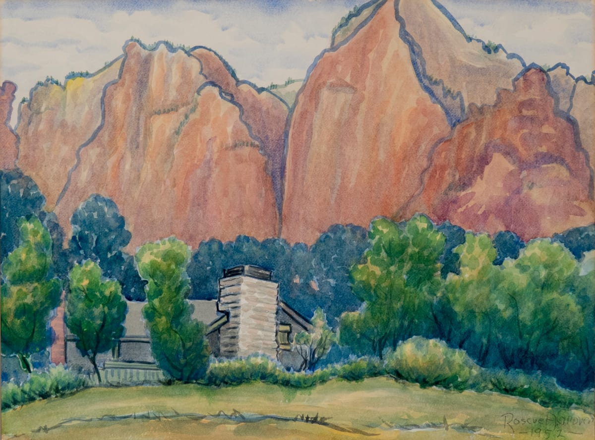 Zion's Canyon by Roscoe Grover