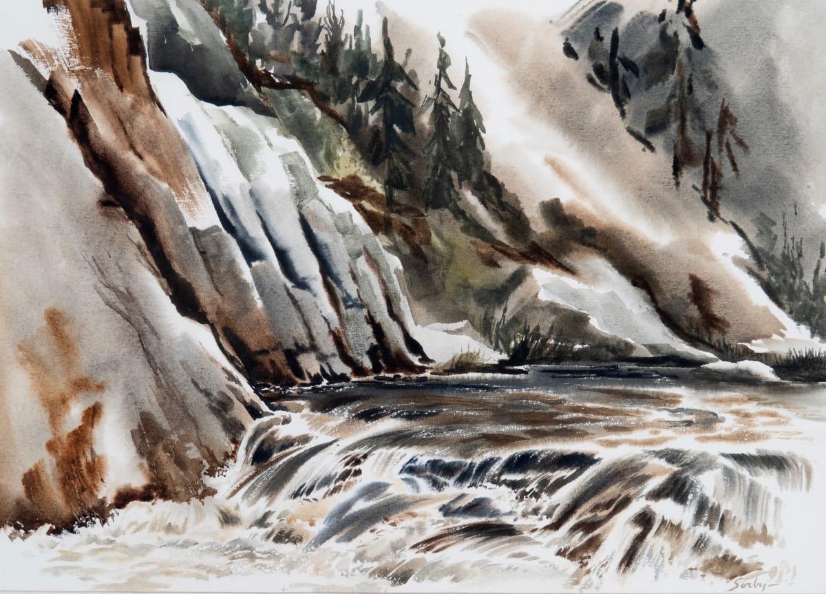Mountain Stream Northfork Series No. 3 by Richard Sorby