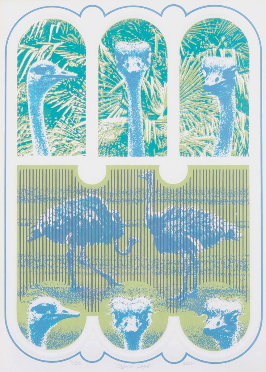 Ostrich Cage by Arny R. Skov