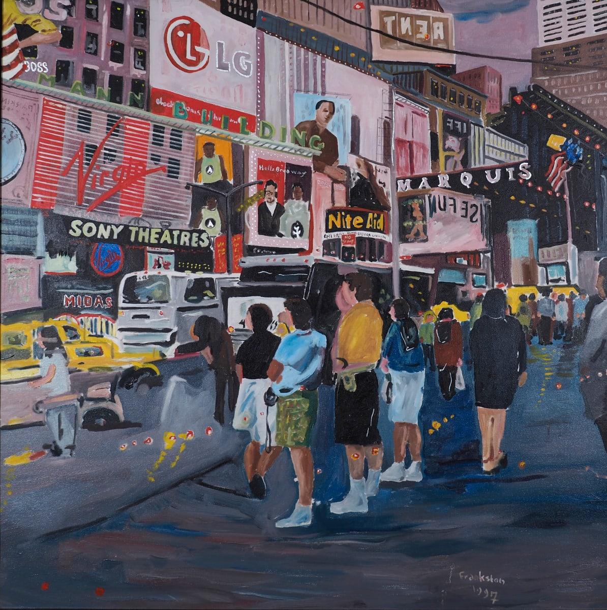 Time Square Night 1 by Leon Frankston
