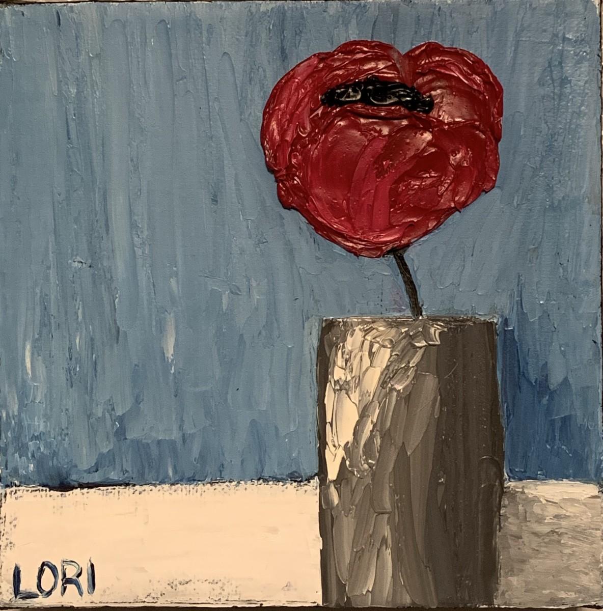 Poppy in a Gray Vase