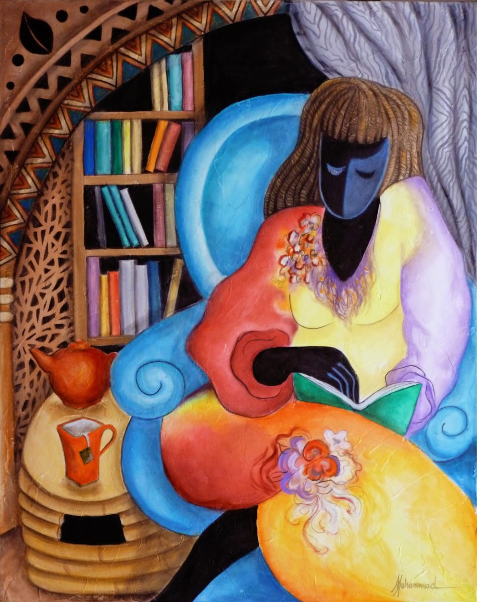 A Good Book and a Cup Of Tea by Marcella Hayes Muhammad