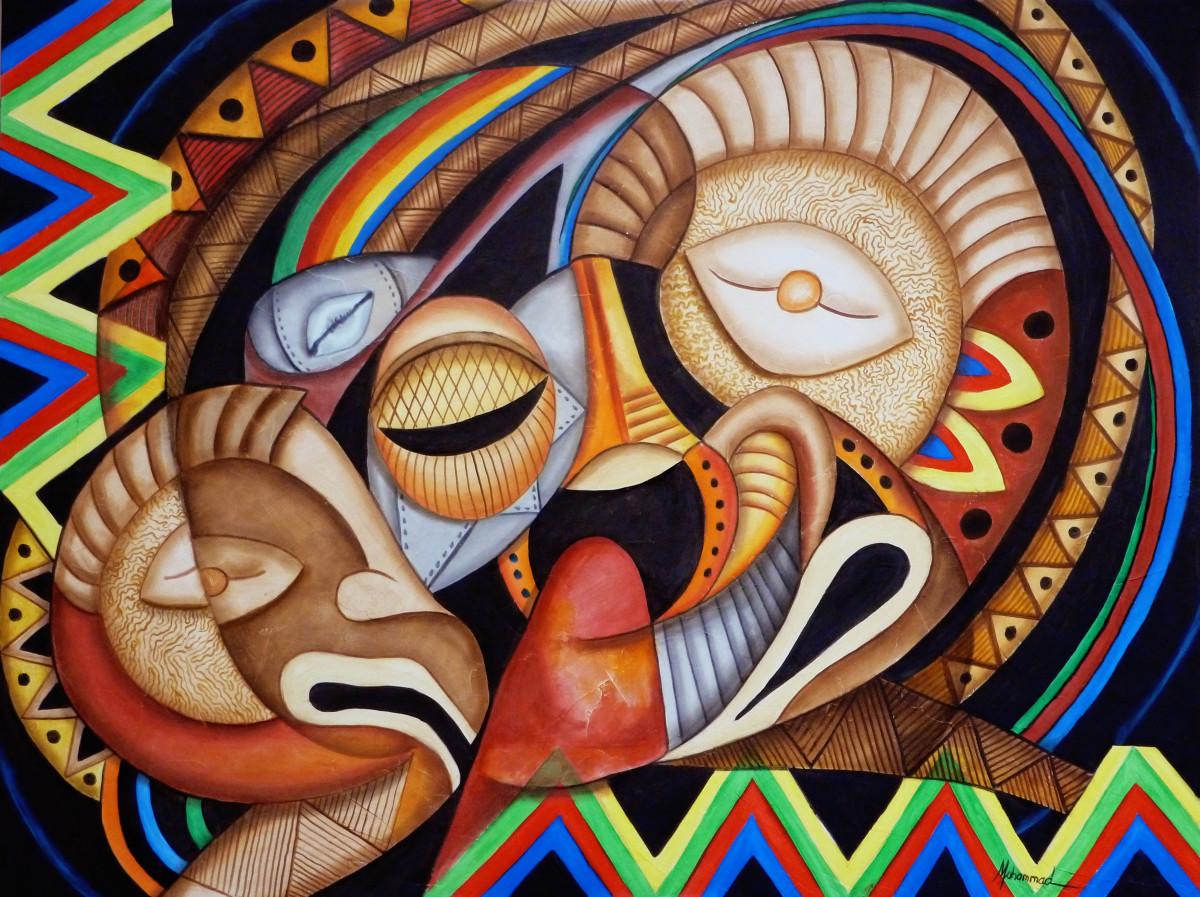 Maruvian Celebration Masks II by Marcella Hayes Muhammad