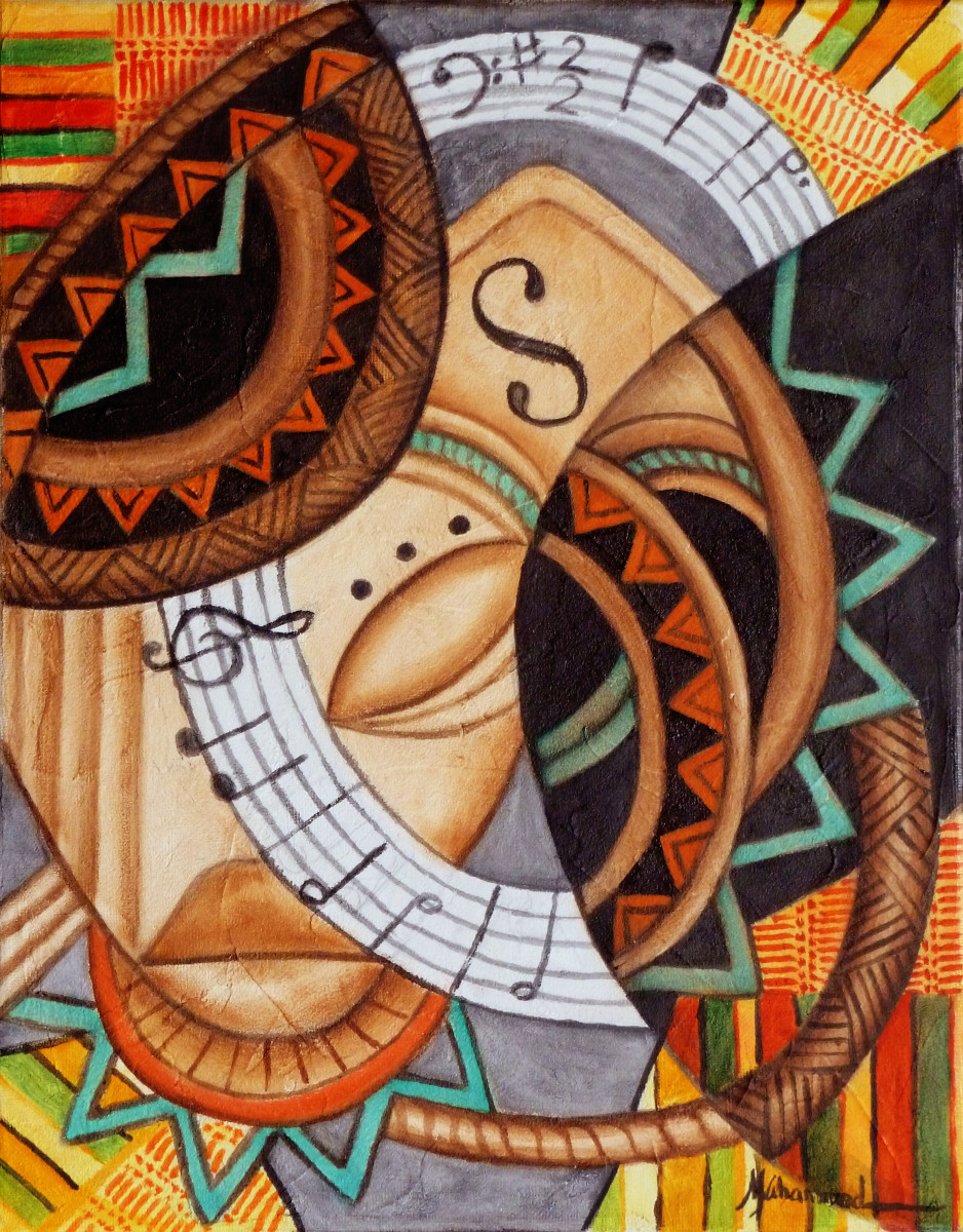 Maruvian Small World Masks 1 by Marcella Hayes Muhammad