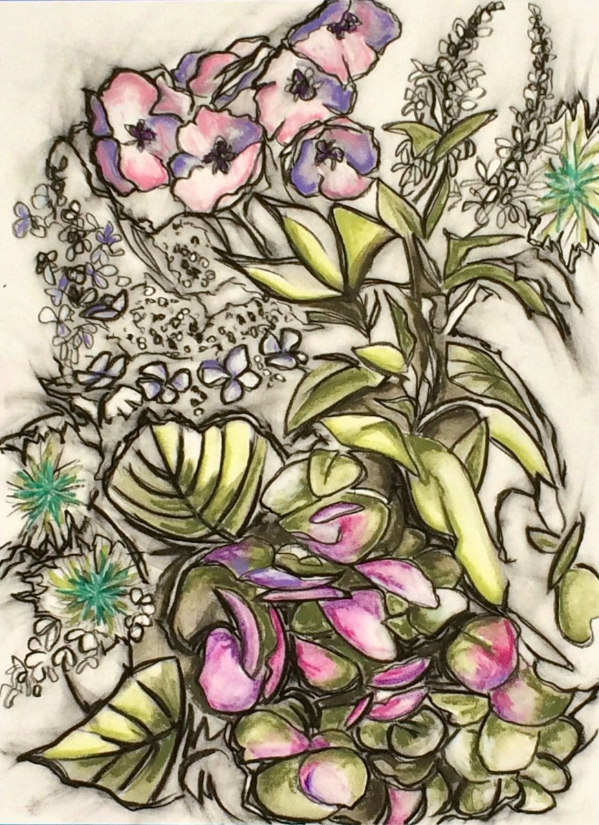 Hydrangea and Friends by Brenda Gribbin