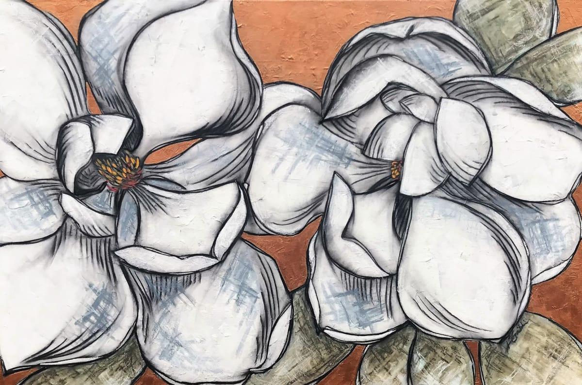 Magnolias by Brenda Gribbin