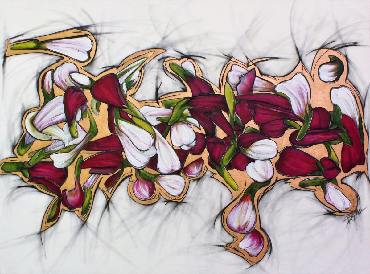 Zinnia Dance by Brenda Gribbin
