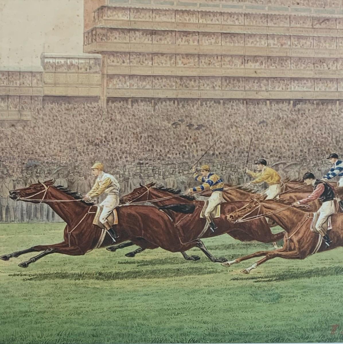 Sainfoin Winning the 1890 Epsom Derby