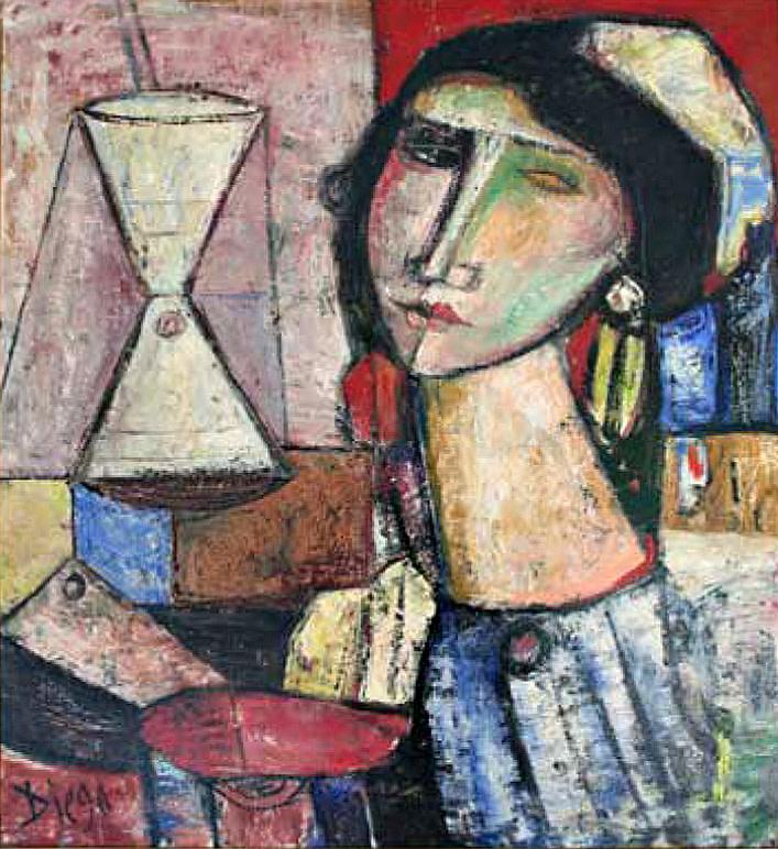 """Painter and Model"" by Antonio Diego Voci #C101 by Antonio Diego Voci"