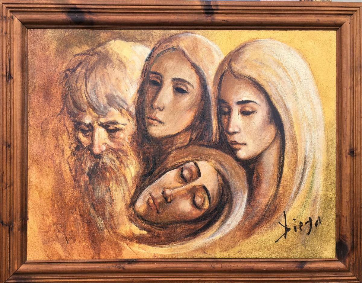 """""""Composition"""" #C104 in Wooden Frame by Antonio Diego Voci"""