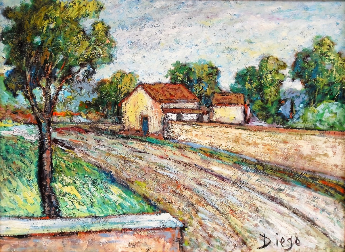 Italian Landscape Paessaggio By Antonio Diego Voci Artwork Archive