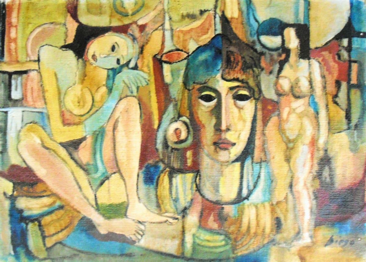 """""""Three Women"""" #C63 by Antonio Diego Voci"""