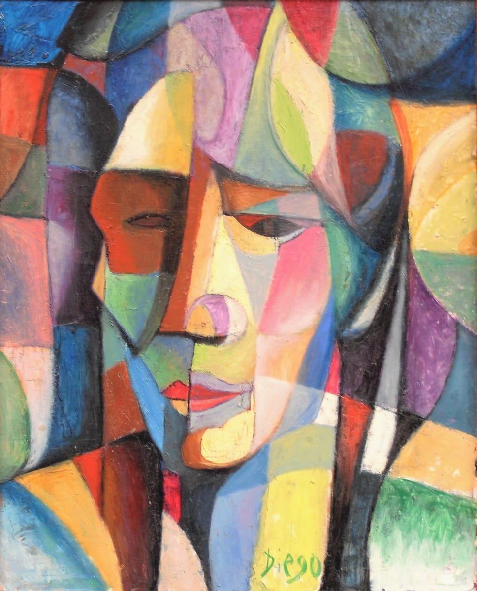 """""""Visage Composition"""" #C7 by Antonio Diego Voci  Image: Visage Composition by Diego Voci, Oil on Canvas"""