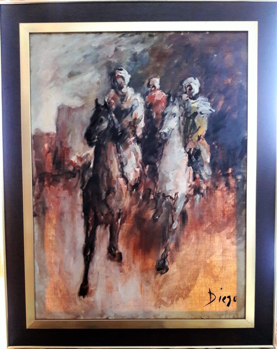 """Horseriders"" by Antonio Diego Voci #C83 by Antonio Diego Voci  Image: #Horseriders by DIEGO_VOCI 1969"