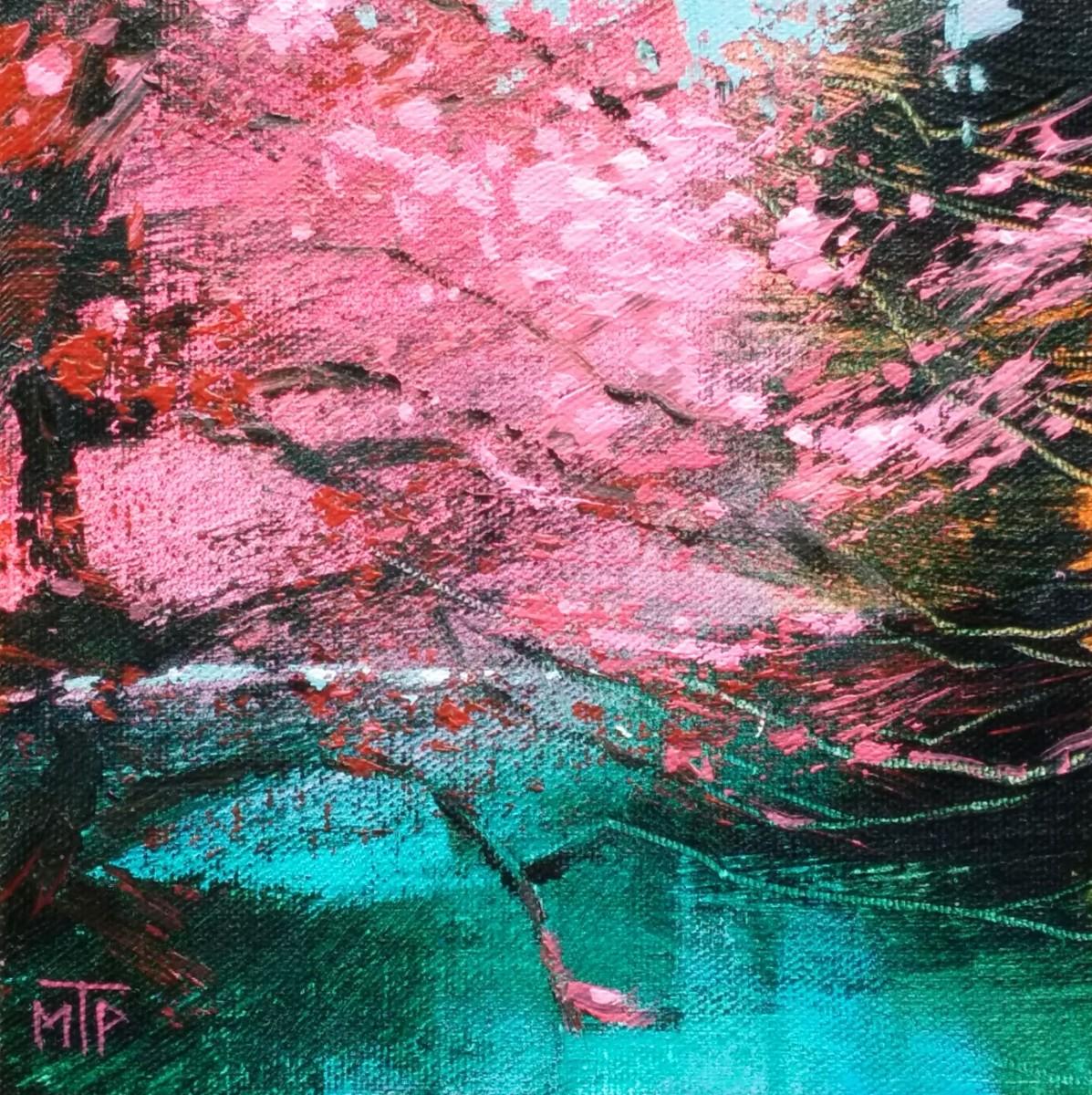 Cherry Tree by the Pond Study