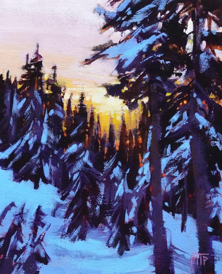 Winter Sunset I by Tatjana Mirkov-Popovicki