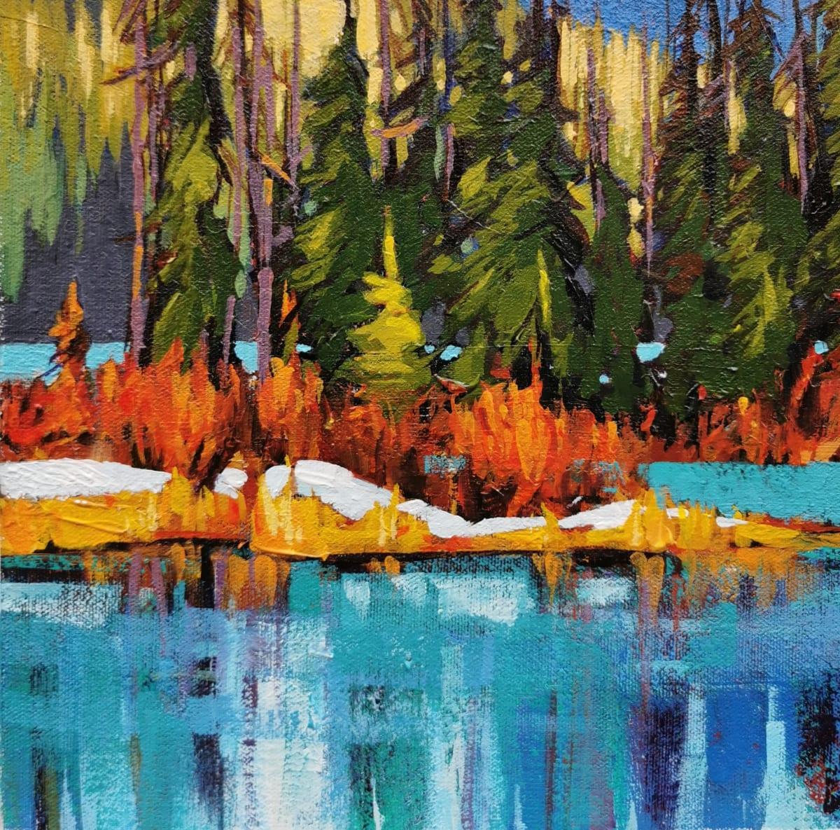 Vermilion Lakes Study I by Tatjana Mirkov-Popovicki