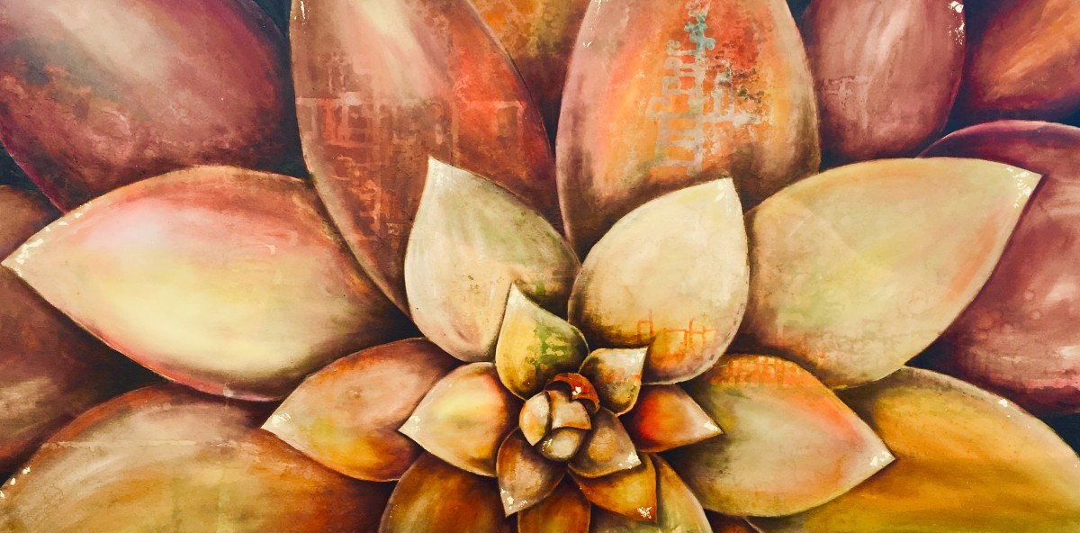 Golden Succulent by Ansley Pye
