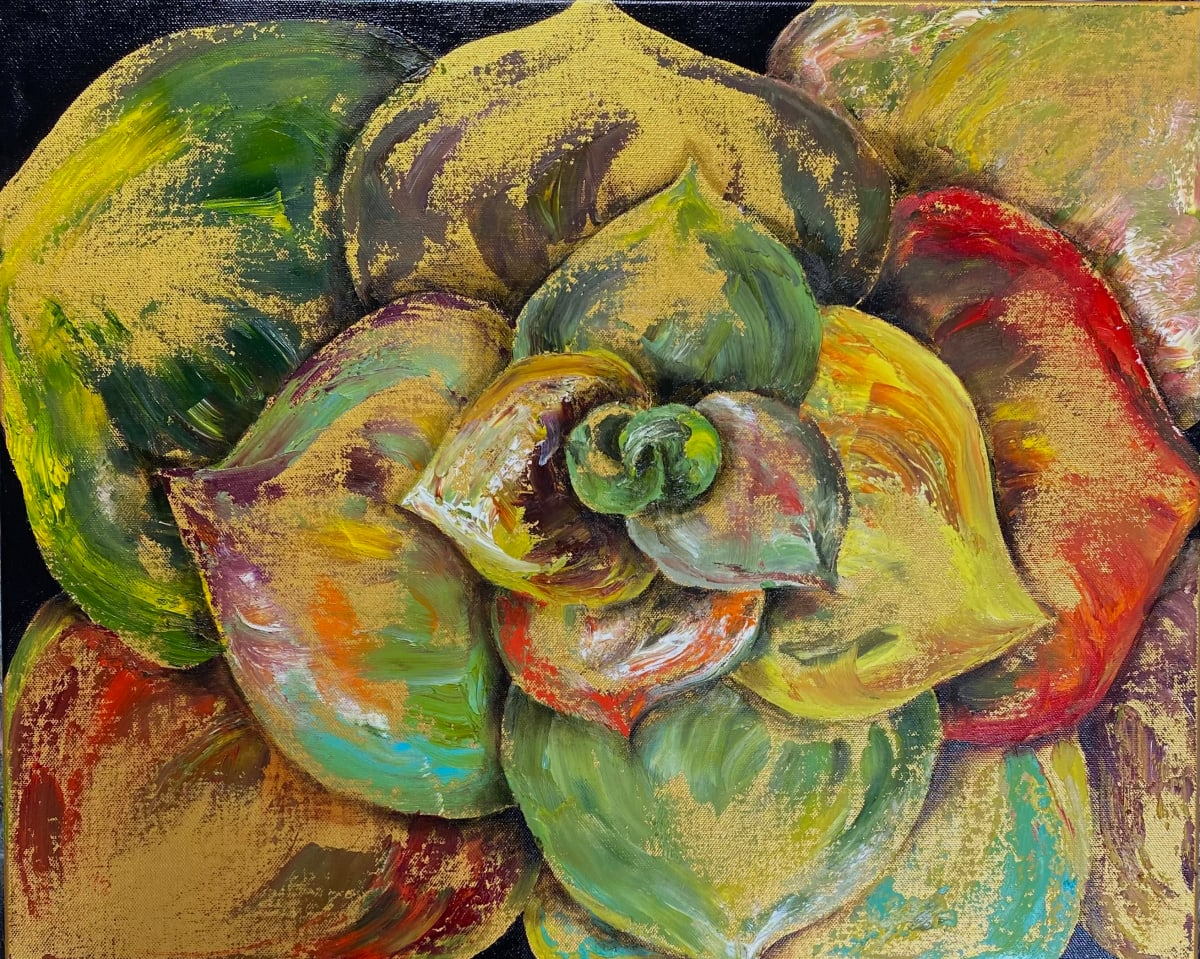 Succulent en Palette by Ansley Pye