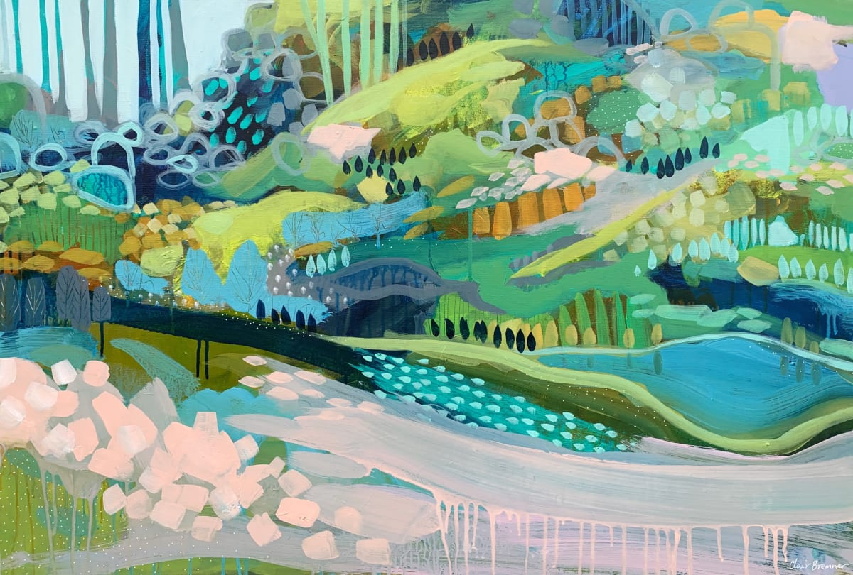 The Blue Pond by Clair Bremner