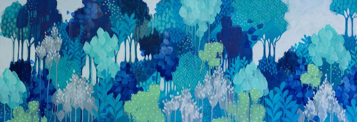 Blue Fern Gully by Clair Bremner