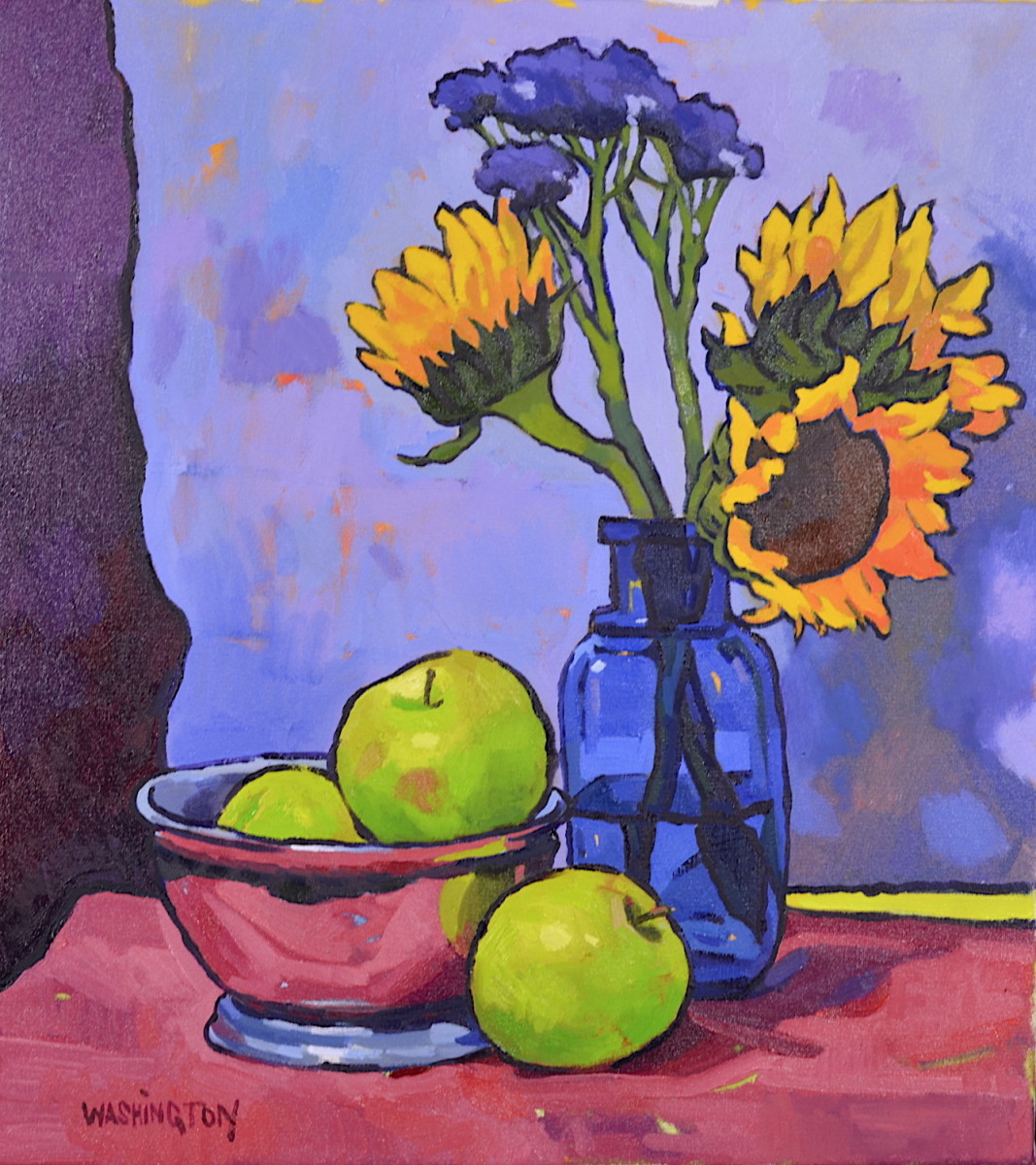Sun Flowers w/Green Apples