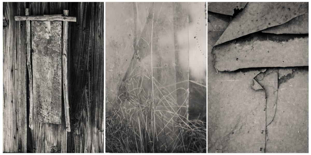 winter wabi sabi triptych by Kelly Sinclair