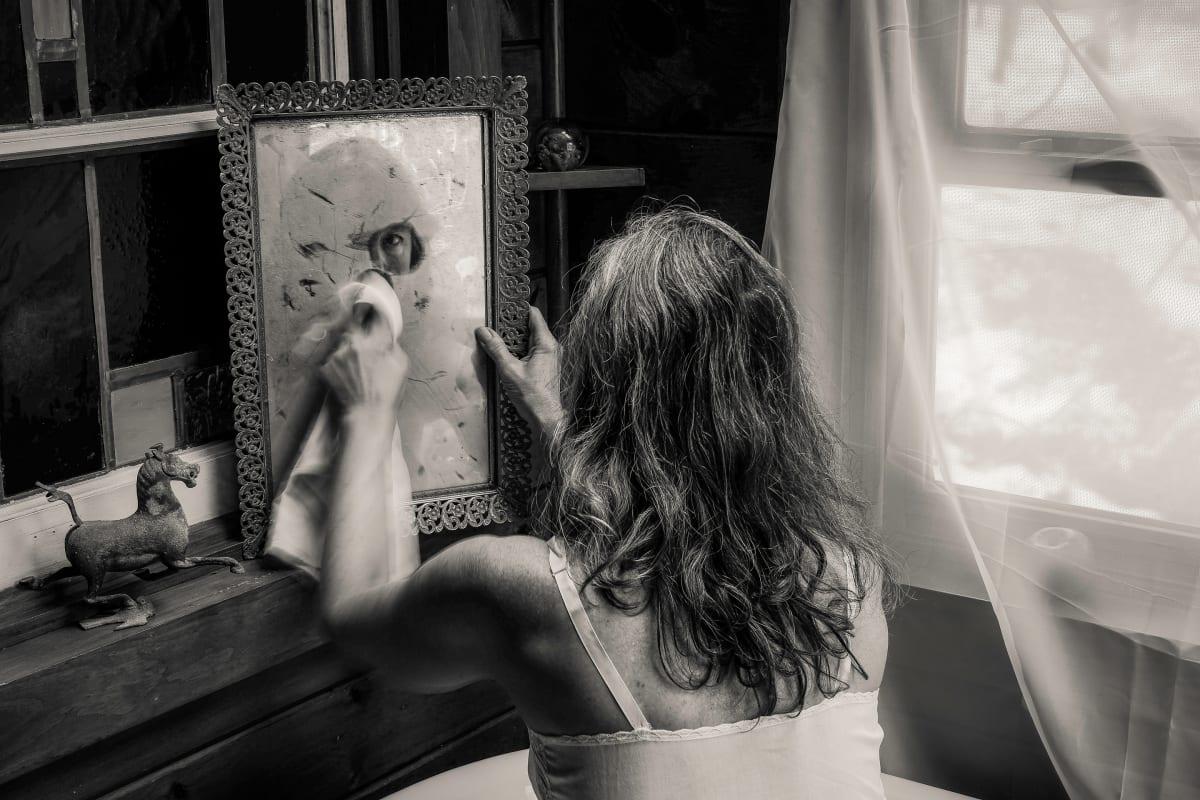 polishing the mirror by Kelly Sinclair
