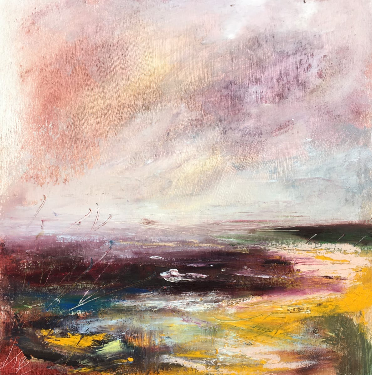 Spring Yellow Shore by Lesley Birch