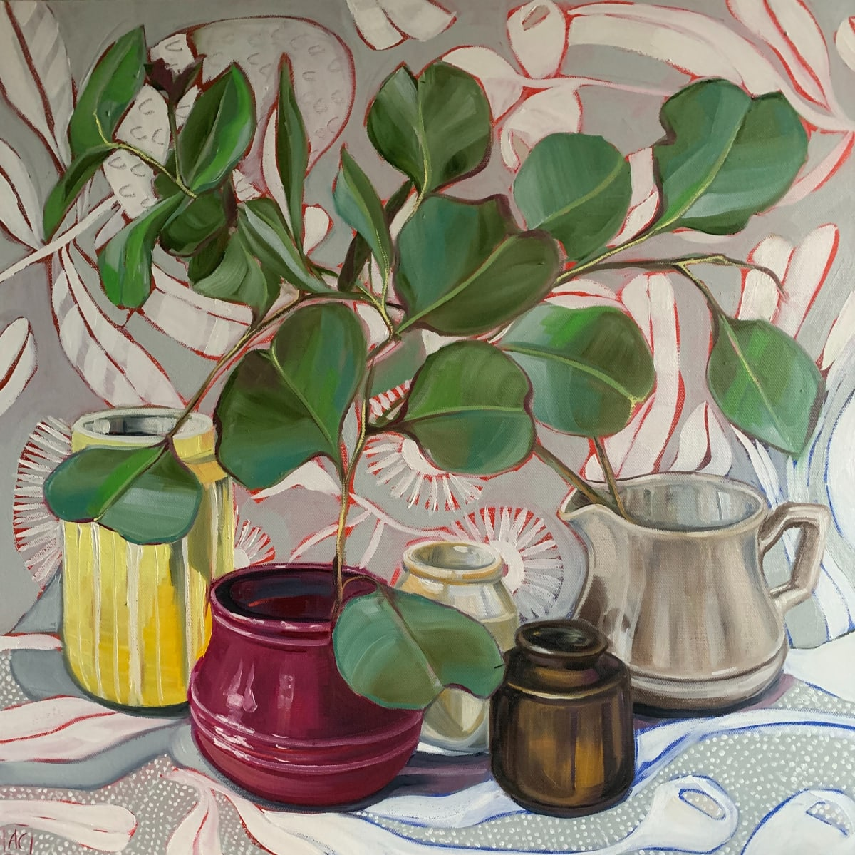 Mid Century and Dollar Gum Blossom by Alicia Cornwell