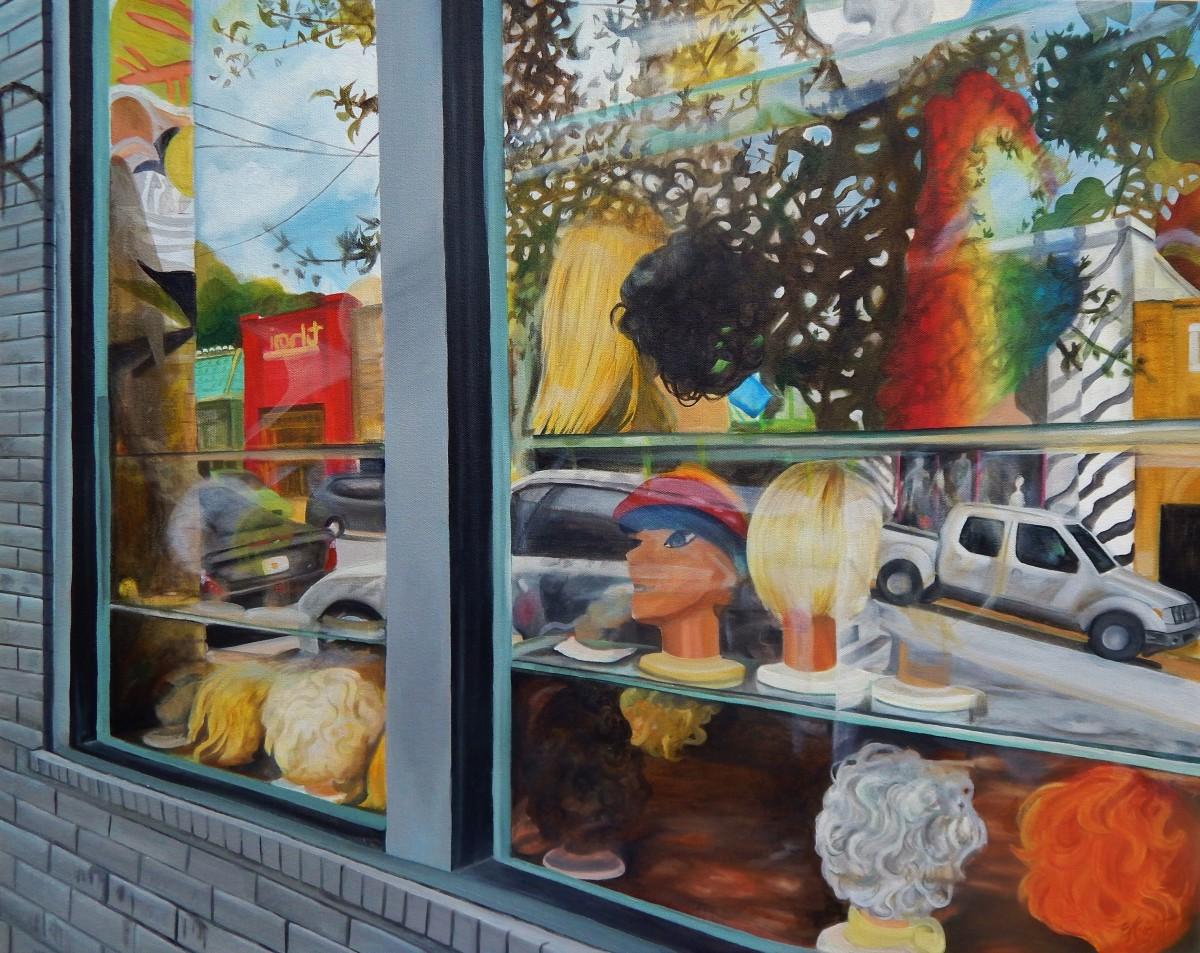 Wig Shop Window, L5P by Emma Knight